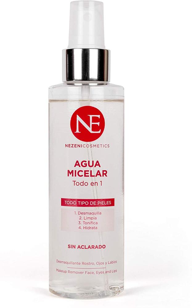 Agua Micelar sin Aclarado Todo en 1 de Nezeni Cosmetics